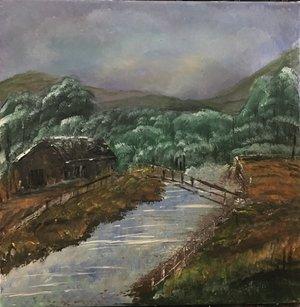 Hause am Fluss