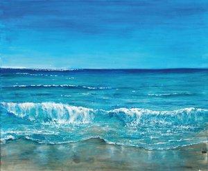 vagues (midi, bleu clair)