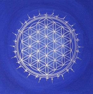 Blume des Lebens blau