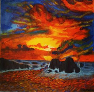 Sonnenuntergang nach Nesebar