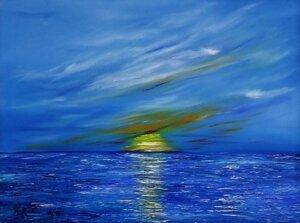 Sonne über dem Meer