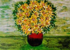 Eine Vase mit Blumen 2