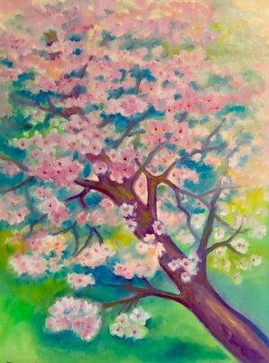 Blühende Mandelnbaum