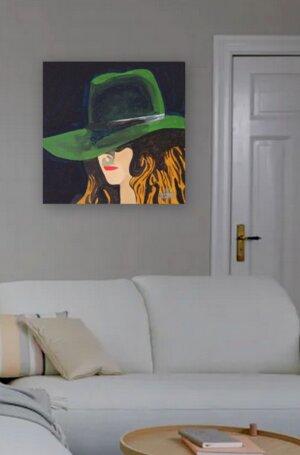 Frau mit Hut 2