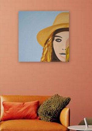 Frau mit Hut 3