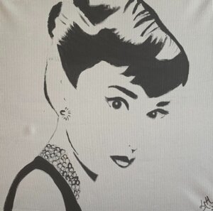 Audrey in grey
