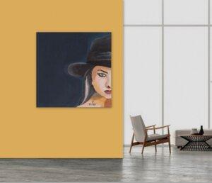 Frau mit Hut 7