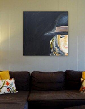 Frau mit Hut 8