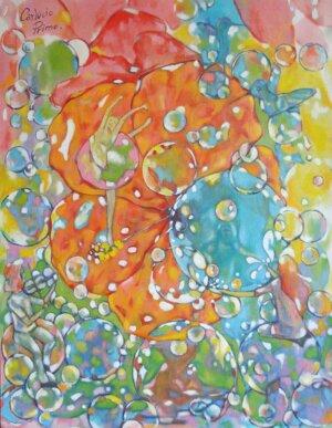 Sonho de um hibisco solitario